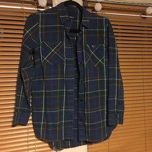 madewell plaid flannel - XS